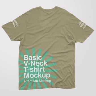 Basic vneck back tshirt mockup