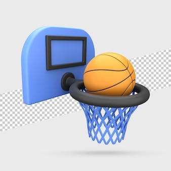 Баскетбольный мяч 3d визуализации