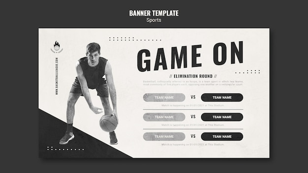 Basketball ad banner template
