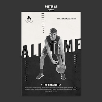 Basketball ad flyer template