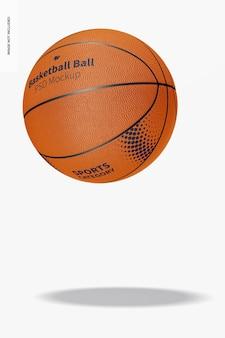 Mockup di palla da basket, che cade