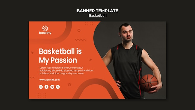 Basketball banner template