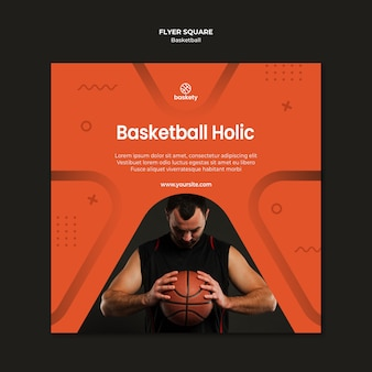 Basketball holic flyer square