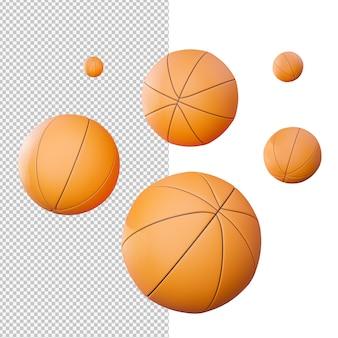 バスケットボールの孤立したイラスト