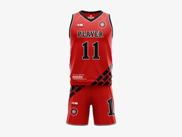 Basketball jersey mockup template