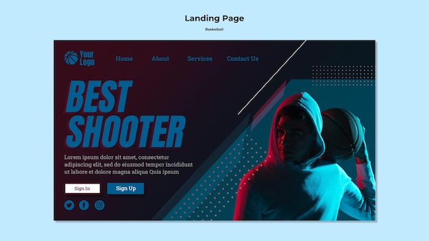 Basketball landing page theme