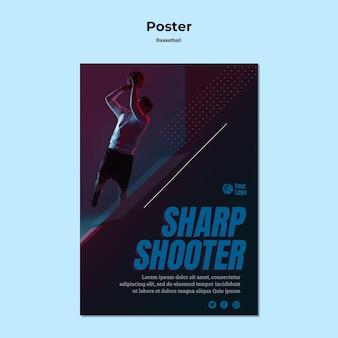 Modello di poster di basket