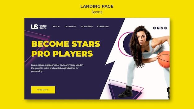 Basketball tournament landing page template