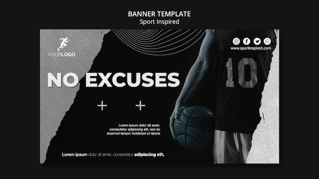 Basketball training ad template banner
