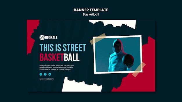 Basketball training banner template