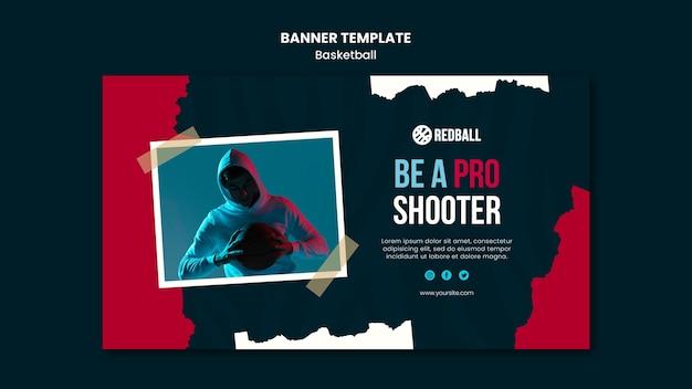 Basketball training template banner