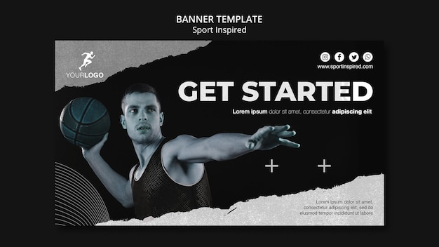 Basketball training template banner