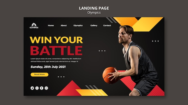 Basketball web template