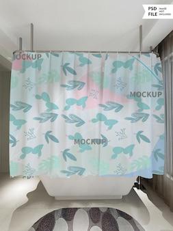 Bath curtain mockup