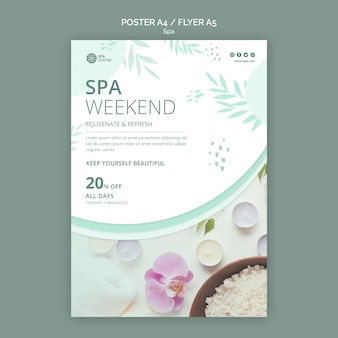 Bath salt spa weekend poster