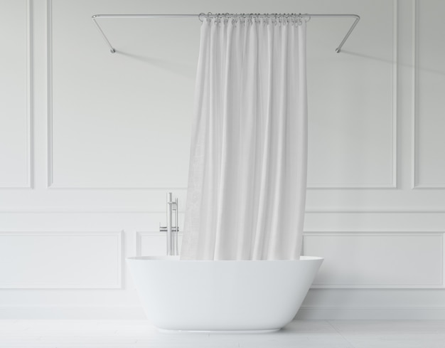 Vasca da bagno con tenda