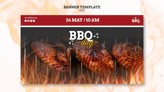 Bbq day and grill banner template