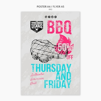 Bbq flyer with discount