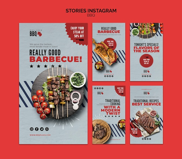 Bbq instagram stories template