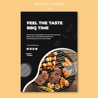 Bbq poster template concept