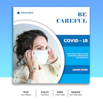 Be careful banner template