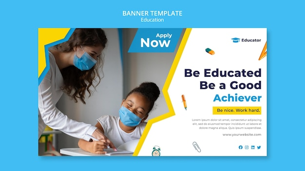Be educated banner template