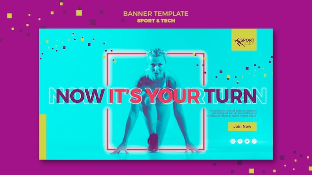 Be the first sport banner template