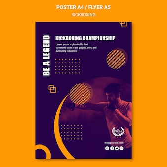 Be a legend kickboxing poster template