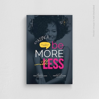 Be more with less flyer template