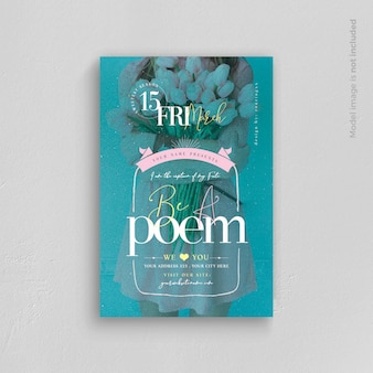 Be a poem flyer template