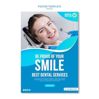 Гордитесь своей улыбкой постера шаблона