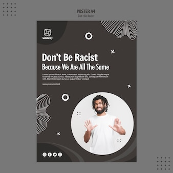 Don't be racist concept poster template