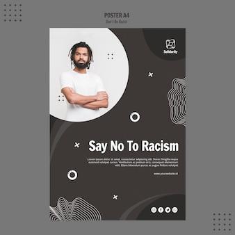 Non essere modello di poster concetto razzista