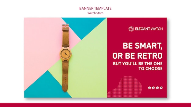 Be smart or be retro banner template