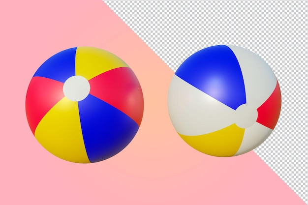 分離されたビーチボール3dレンダリング