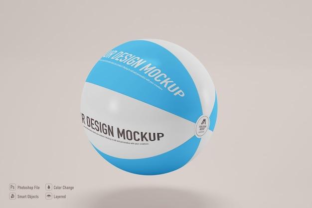 Изолированный макет пляжного мяча
