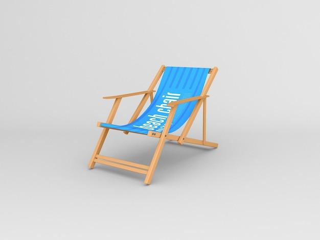 Mockup di sedia a sdraio