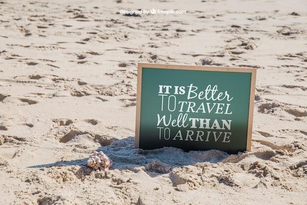 Beach concept with slate