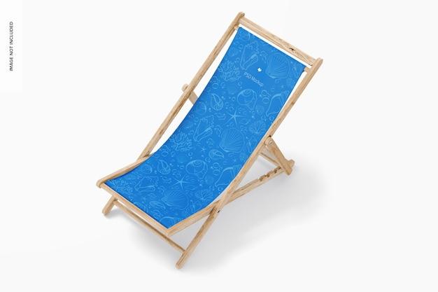 Пляжный складной стул, макет, вид сверху