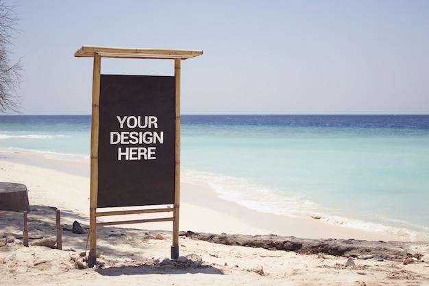 Beach view slate mockup