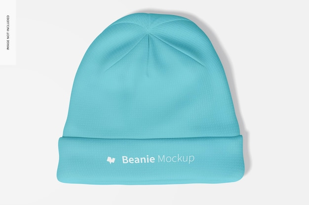 Beanie mockup, top view