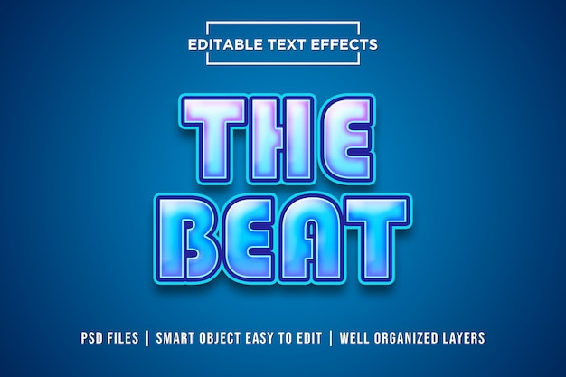 The beat text effect
