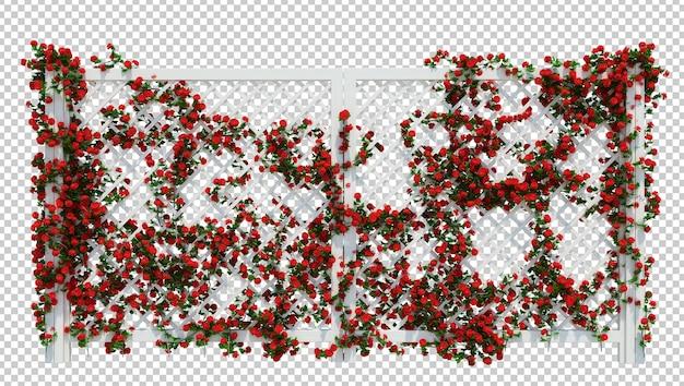 分離された美しい3dレンダリングブラシツリー