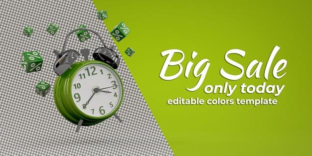 빈티지 시계의 아름다운 3d 렌더링 프리미엄 PSD 파일