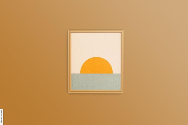 Красивая абстрактная летняя деревянная рамка для фото