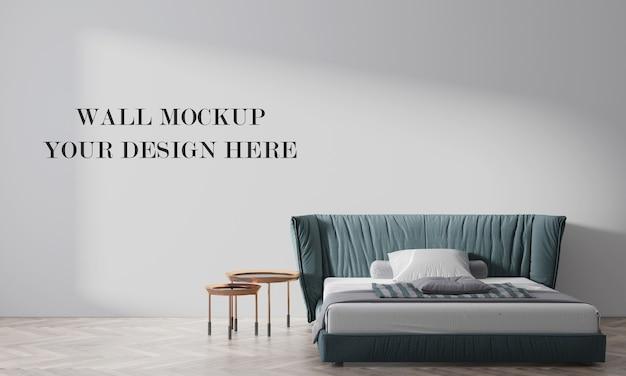 Красивый макет стены спальни 3d визуализации