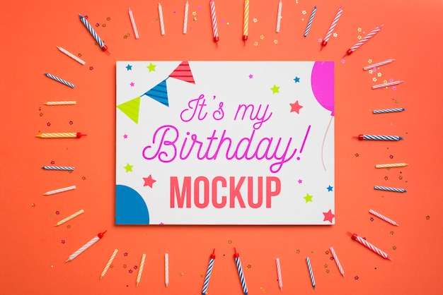 Beautiful birthday concept mock-up