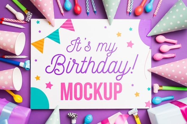 Bellissimo mock-up di concetto di compleanno