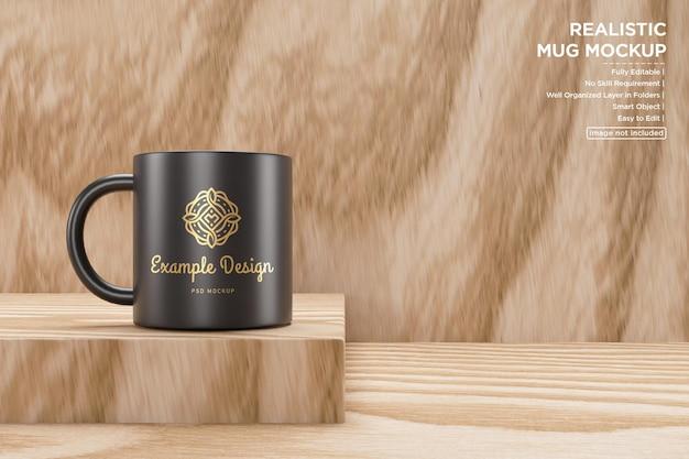 아름다운 검은 컵 모형 디자인