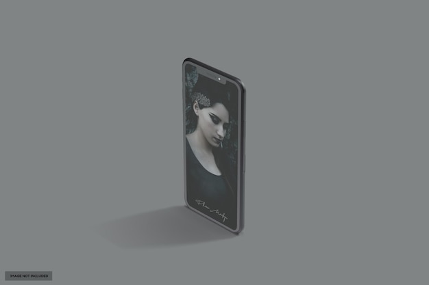 Красивый черный глянцевый макет телефона